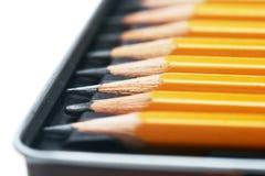 Bleistifte im Kasten Stockbild