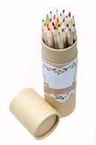 Bleistifte im Pinselpotentiometer Lizenzfreie Stockfotografie
