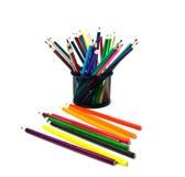 Bleistifte im Support und in der Außenseite Lizenzfreie Stockfotos