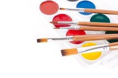 Bleistifte, Lacke und Pinsel Lizenzfreie Stockbilder