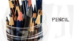 Bleistifte lokalisieren hat Kopienraum Stockfoto