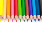Bleistifte lokalisiert auf weiße Hintergründe Lizenzfreie Stockbilder