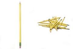 Bleistifte lokalisiert auf weißem Hintergrund Stockfotos