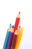 Bleistifte lokalisiert, Farbhintergrund, Bildungskonzept, Schule 1 Lizenzfreie Stockfotografie
