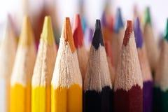 Bleistifte. Makro. Das Material des Künstlers. Stockbild