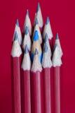 Bleistifte mit Blau Stockbilder