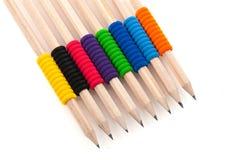 Bleistifte mit buntem Griff Lizenzfreies Stockfoto