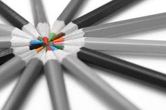 Bleistifte mit bunten Kernen Stockbilder