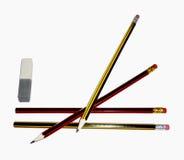 Bleistifte mit einem Radiergummi Lizenzfreies Stockfoto