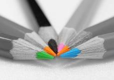 Bleistifte mit farbigen Kernen Lizenzfreies Stockbild