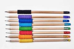 Bleistifte mit Gummischaumgriffen Stockbilder
