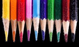 Bleistifte mit Luftblasen Lizenzfreie Stockfotografie