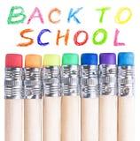 Bleistifte mit Radiergummis Lizenzfreie Stockbilder
