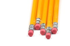 Bleistifte mit rotem Radiergummi Lizenzfreies Stockbild