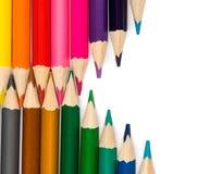 Bleistifte mit Tipps in der Zickzackzusammensetzung Lizenzfreies Stockbild