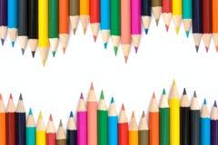 Bleistifte mit unterschiedlicher Farbe. Stockfotografie