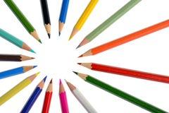 Bleistifte mit unterschiedlicher Farbe Lizenzfreie Stockfotos