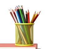 Bleistifte mit weißem Hintergrund Stockfotos