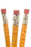 Bleistifte mit Zahn-Kennzeichen Stockbild