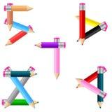 Bleistifte Nr. 5-9 stock abbildung