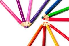 Bleistifte oder Zeichenstifte Stockfotografie