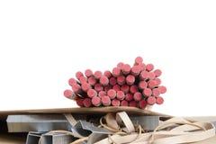 Bleistifte, Schule u. Büroartikel Stockfoto