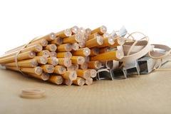 Bleistifte, Schule u. Büroartikel Stockbilder