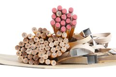 Bleistifte, Schule u. Büroartikel Lizenzfreies Stockbild