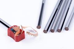 Bleistifte u. Shapner Lizenzfreie Stockbilder