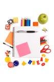 Bleistifte und Apfel - Konzeptschule Lizenzfreie Stockfotos