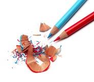 Bleistifte und Bleistiftspitzerrasieren Lizenzfreie Stockbilder