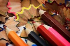Bleistifte und Chips Lizenzfreies Stockbild