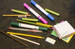 Bleistifte und Filzstifte Lizenzfreies Stockfoto