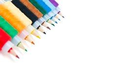 Bleistifte und Gewinde Lizenzfreie Stockfotos