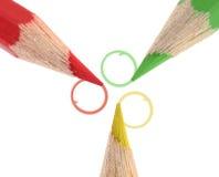 Bleistifte und Kreise Stockfotos