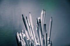 Bleistifte und Kunstmaterialphotographie Lizenzfreie Stockfotos