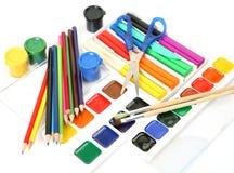 Bleistifte und Lacke Stockfotografie