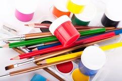 Bleistifte und Lacke Stockfoto