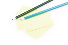 Bleistifte und Papier Lizenzfreies Stockfoto