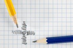 Bleistifte und Papier Stockbilder