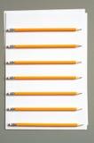 Bleistifte und Papier Stockfoto