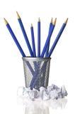 Bleistifte und Papierabfall Lizenzfreie Stockbilder