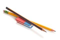 Bleistifte und Radiergummi Lizenzfreie Stockbilder