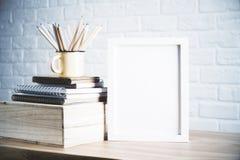 Bleistifte und Rahmen Stockfotos