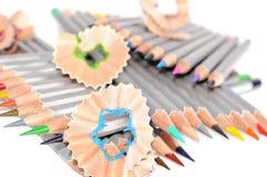 Bleistifte und Rasieren Stockfotos