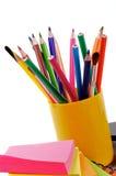 Bleistifte und Steuerknüppel Stockfoto