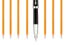 Bleistifte und Stift Stockfoto