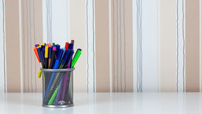 Bleistifte und Stifte Lizenzfreie Stockbilder