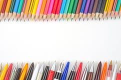 Bleistifte und Stiftsammlung Lizenzfreie Stockfotos