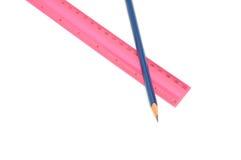 Bleistifte und Tabellierprogramm Stockbilder